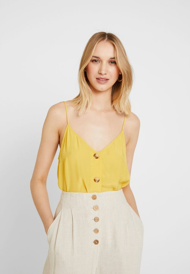MINDY BUTTON DOWN SINGLET - Toppe - mustard yellow