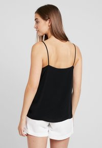 Gina Tricot - MINDY BUTTON DOWN SINGLET - Linne - black - 2