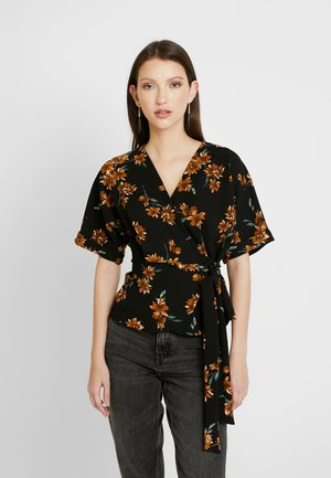 KIMMY WRAP - T-shirt med print - black