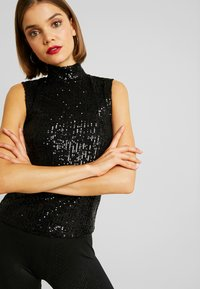 Gina Tricot - EXCLUSIVE HOLLY GLITTER - Bluser - black - 3