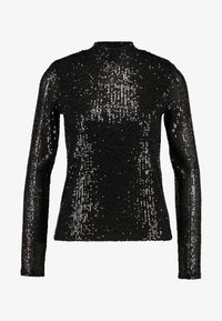 Gina Tricot - EXCLUSIVE HOLLY GLITTER POLO - Blouse - black - 3