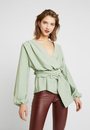 EMALI WRAP BLOUSE - Blůza - mint