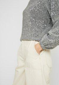 Gina Tricot - GILLY - Bluzka z długim rękawem - silver - 5