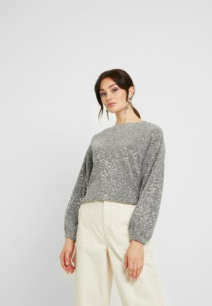 GILLY - Long sleeved top - silver