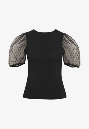PIA ORGANZA - T-shirt med print - black