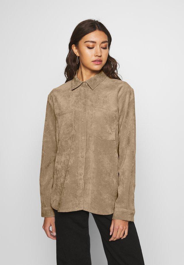 DORA - Button-down blouse - beige