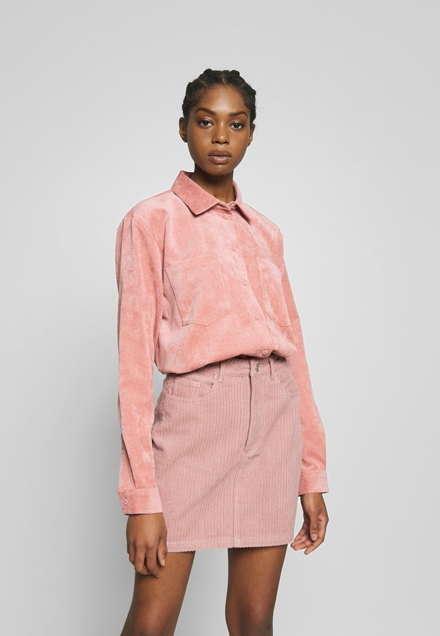 DORA - Button-down blouse - old rose