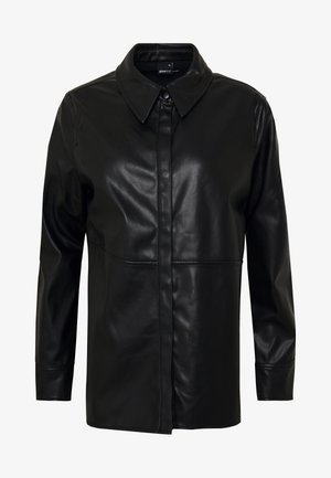 ANNIE  - Button-down blouse - black