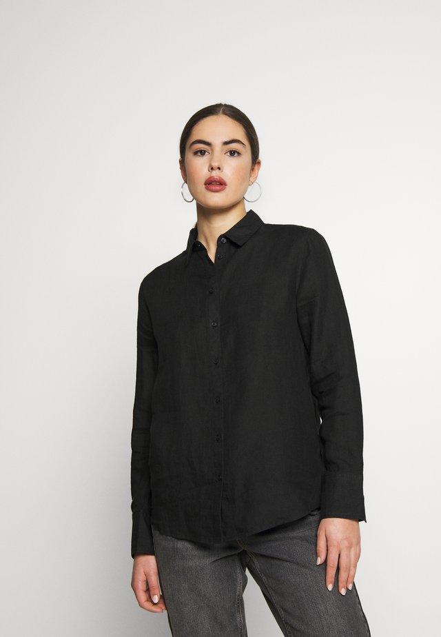 KIMBERLY - Button-down blouse - black