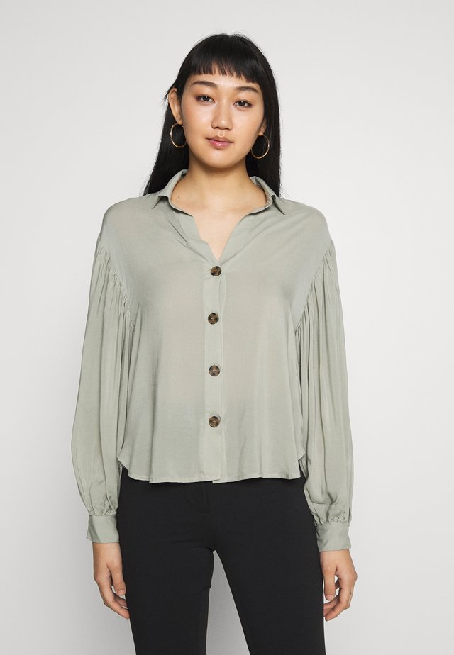 MIRABELLE  - Button-down blouse - seagrass