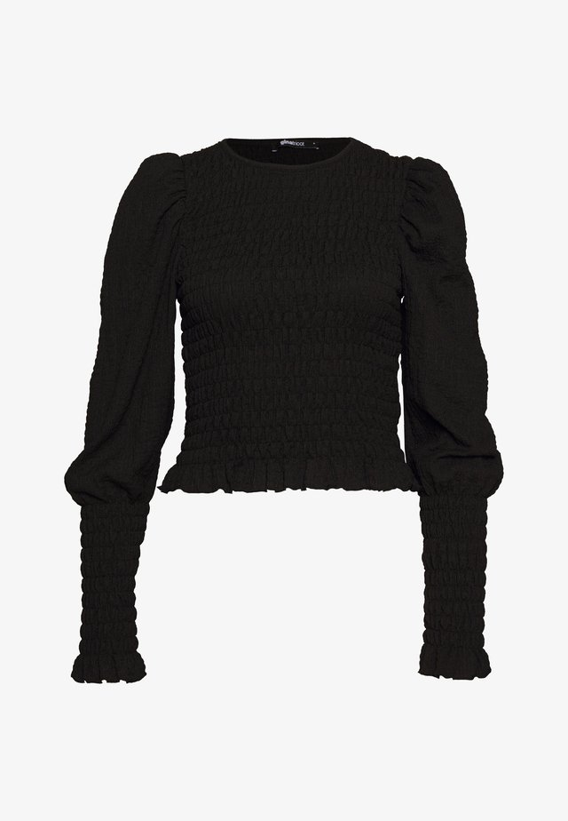 NATHALIE SMOCK - Long sleeved top - black