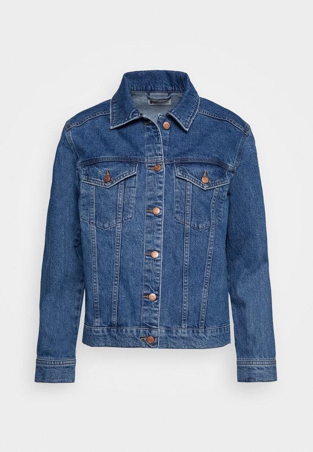 SOLANGE JACKET - Džínová bunda - mid blue denim