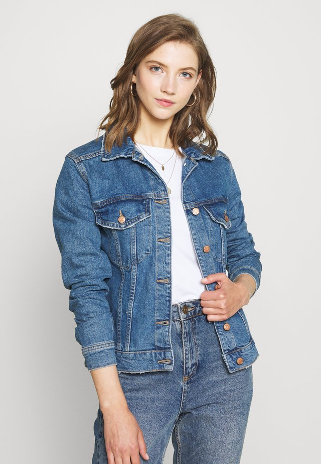 SOLANGE JACKET - Denim jacket - mid blue denim