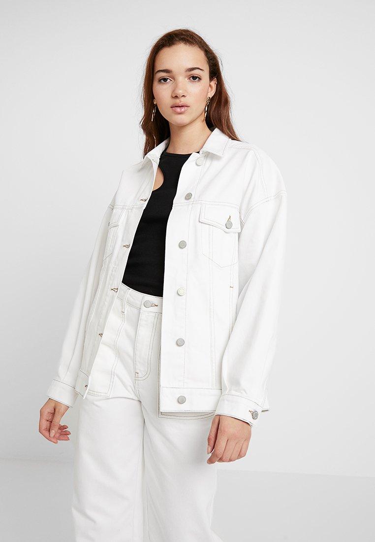 Gina Tricot - CONTRAST JACKET - Denim jacket - offwhite/beige