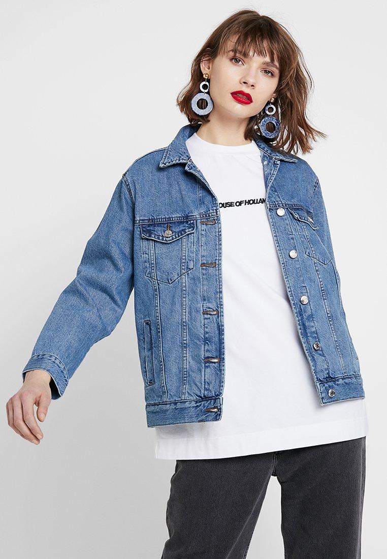 Gina Tricot - THE JACKET - Denim jacket - mid blue