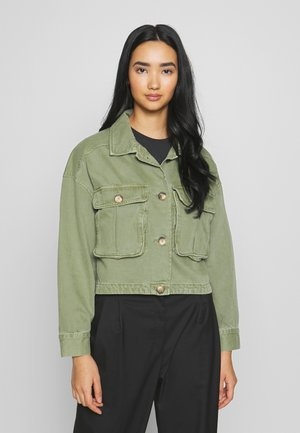 CARGO JACKET - Giacca di jeans - cargo green