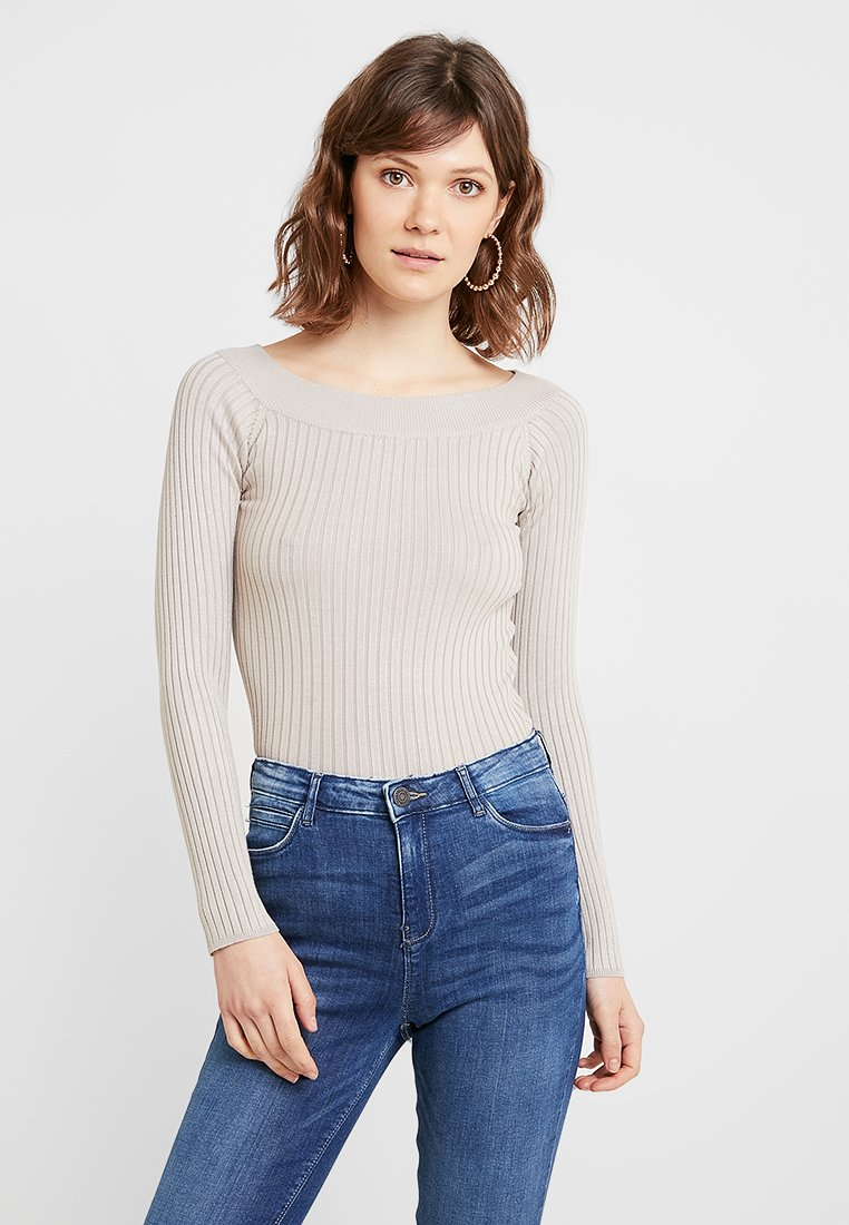 Gina Tricot - LOUISE - Strickpullover - soft beige