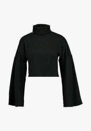 ARIA TURTLENECK - Pitkähihainen paita - black
