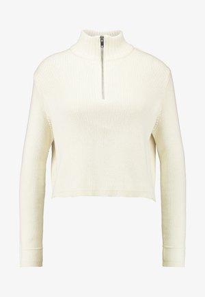 INGRID ZIP - Jumper - warm white