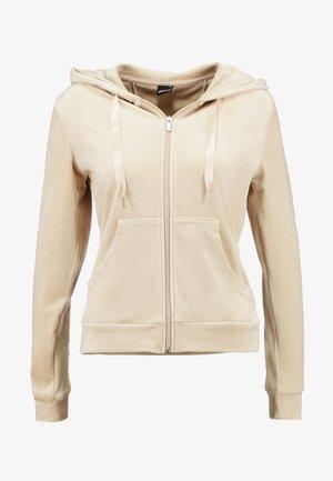 CECILIA HOODIE - Zip-up hoodie - caramel beige