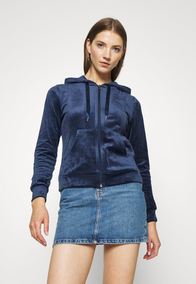 CECILIA HOODIE - Bluza rozpinana - evening blue