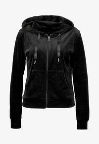 Gina Tricot - CECILIA HOODIE - Zip-up hoodie - black - 3