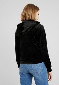Gina Tricot - CECILIA HOODIE - Zip-up hoodie - black - 2