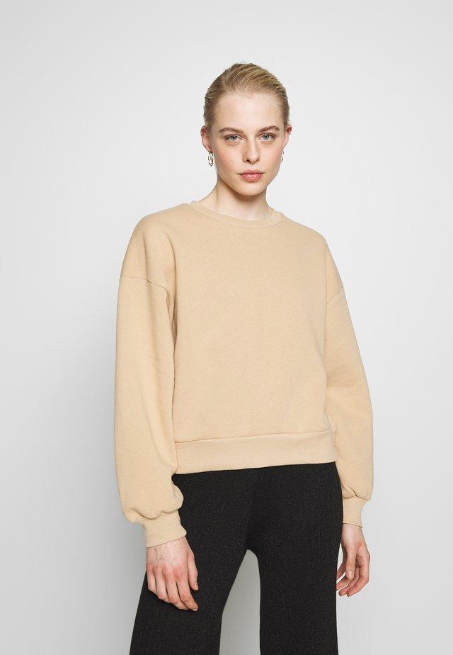 BASIC SWEATER - Sweatshirt - new camel