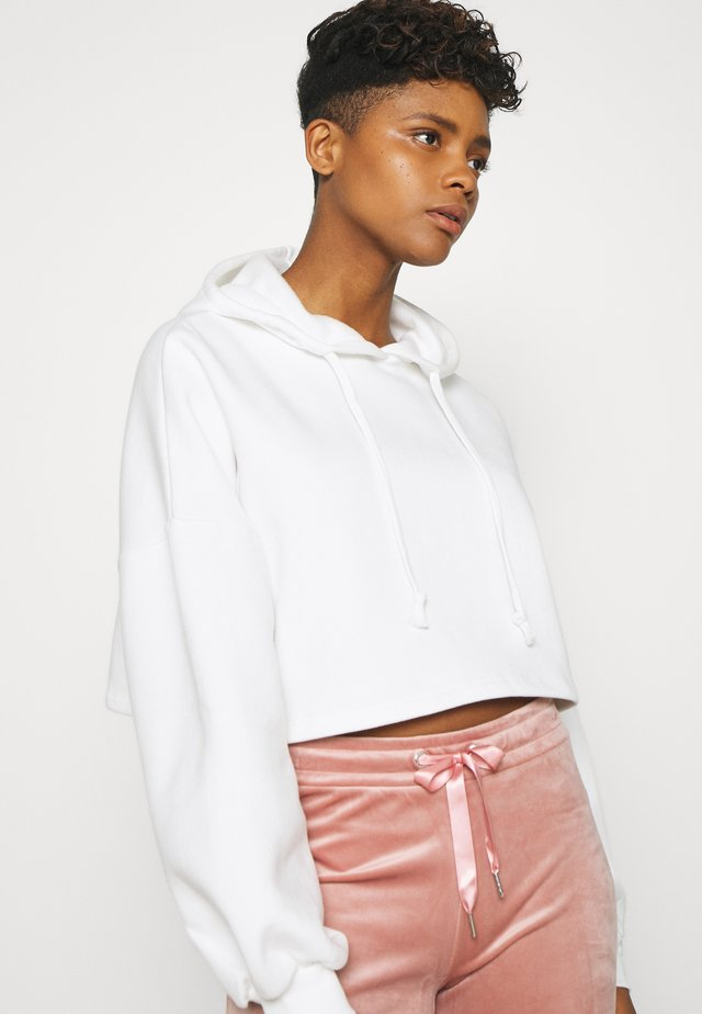 BASIC CROPPED HOOD - Huppari - off-white