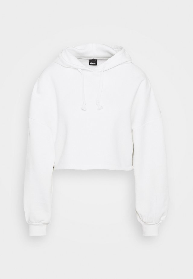 BASIC CROPPED HOOD - Luvtröja - offwhite