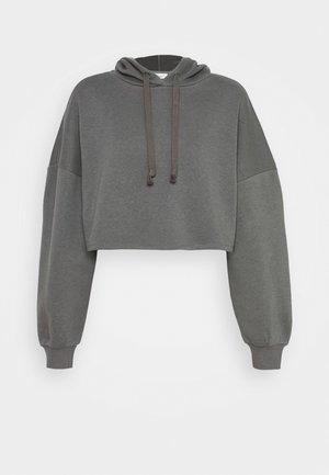 BASIC CROPPED HOOD - Hoodie - granit gray