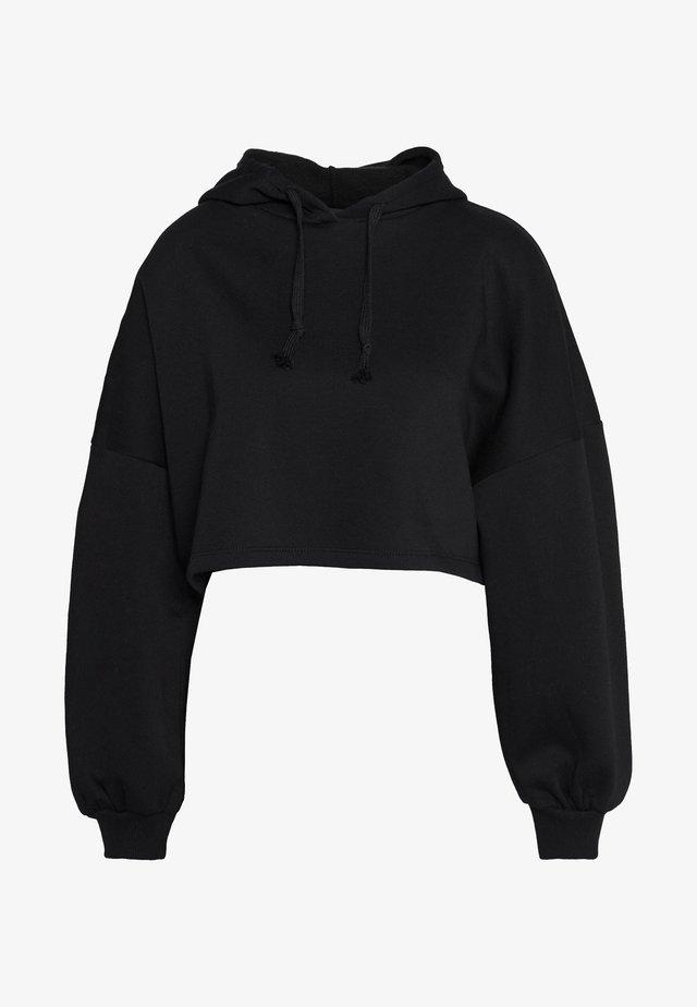 BASIC CROPPED HOOD - Huppari - black