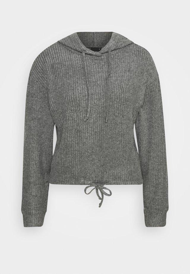 STINA HOODIE - Hættetrøjer - grey melange