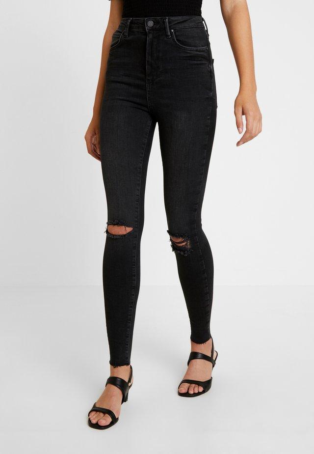 CURVE - Jeansy Skinny Fit - black/grey