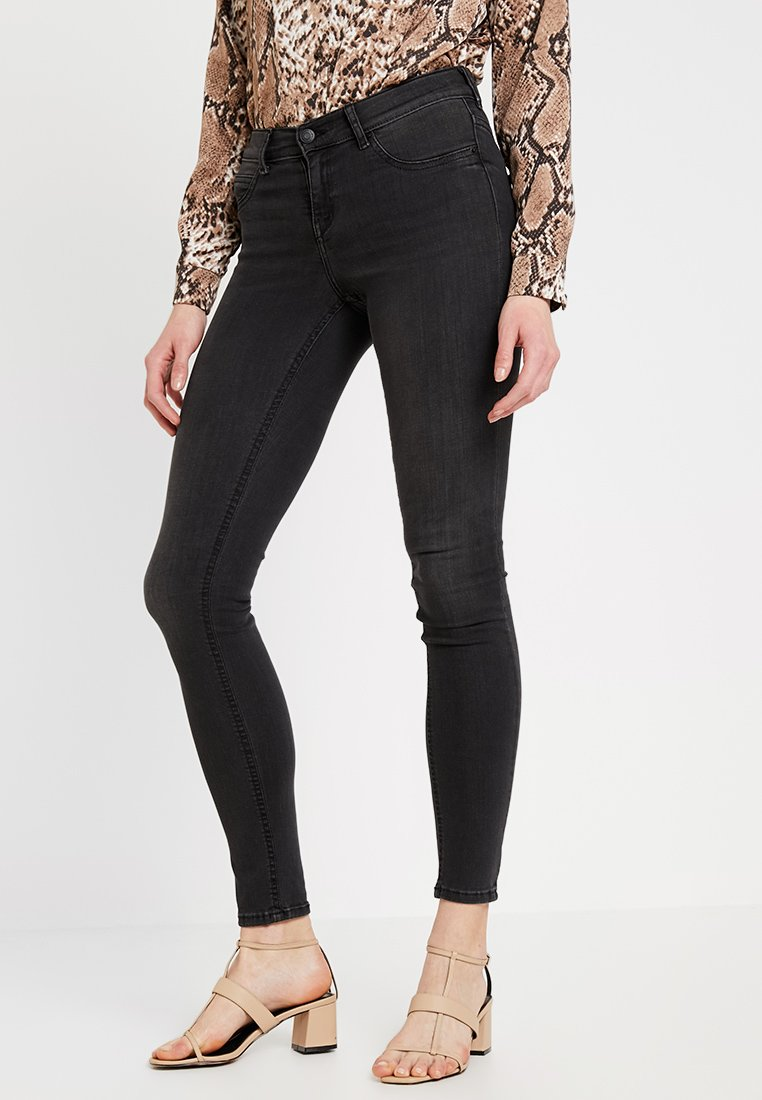Gina Tricot - LOW WAIST SUPERSTRETCH - Jeans Skinny Fit - black/grey