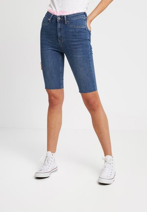 MOLLY BIKER - Shorts vaqueros - midblue