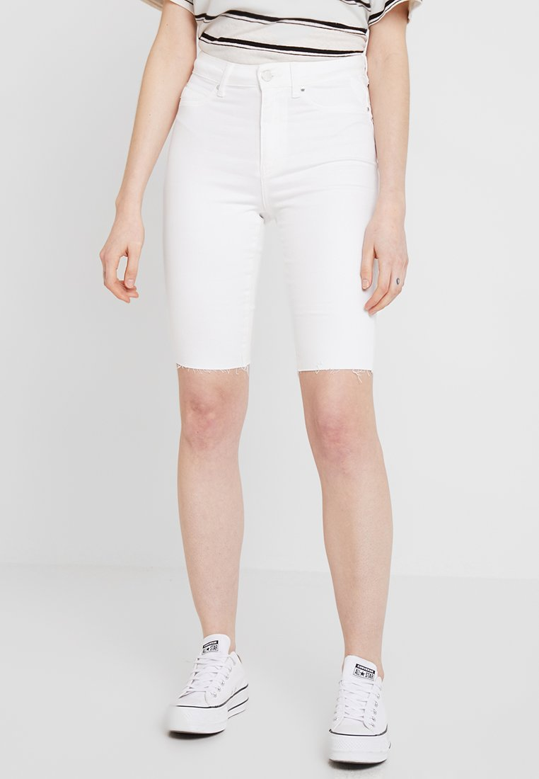 Gina Tricot - MOLLY BIKER - Jeans Shorts - offwhite