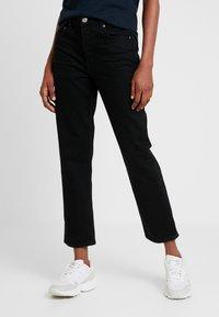 Gina Tricot - STRAIGHT HI-WAIST - Straight leg jeans - black - 0