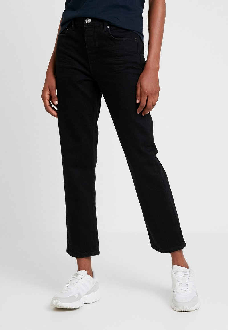Gina Tricot - STRAIGHT HI-WAIST - Straight leg jeans - black