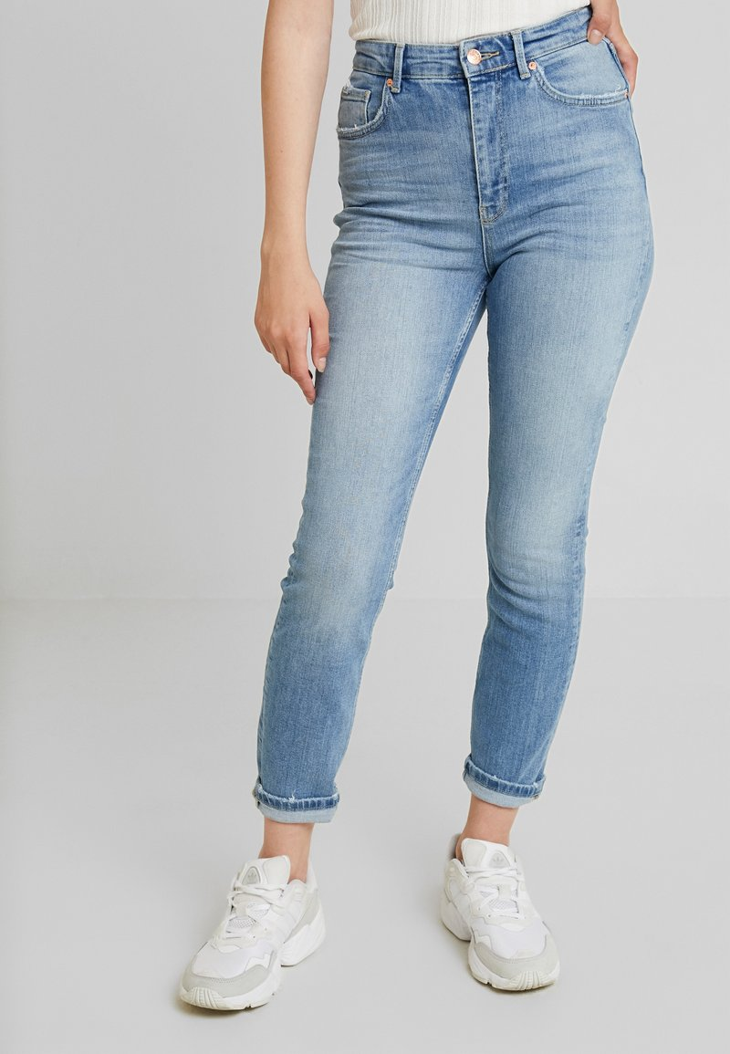 Gina Tricot - ZOEY HIGHWAIST - Jeans Slim Fit - midblue