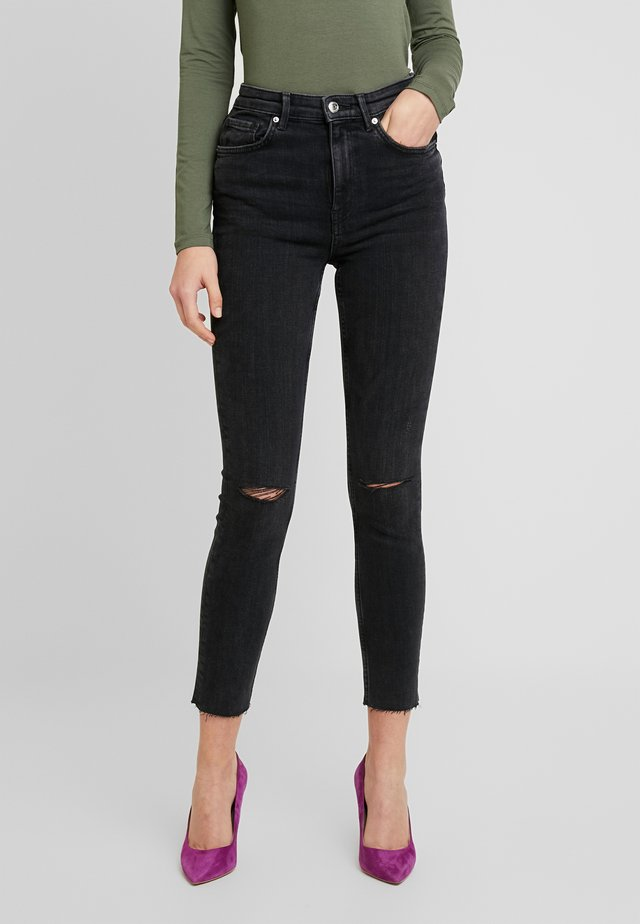 ZOEY HIGHWAIST - Skinny-Farkut - black/grey