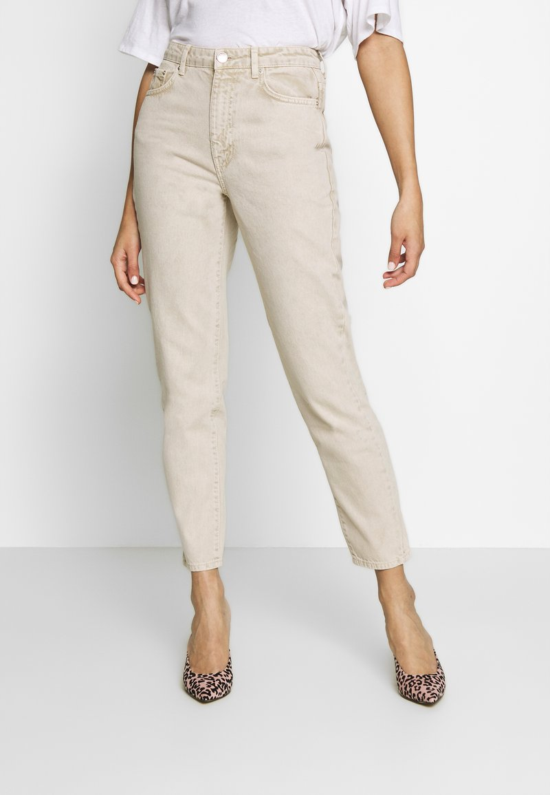 Gina Tricot - DAGNY MOM - Jeans slim fit - vintage beige