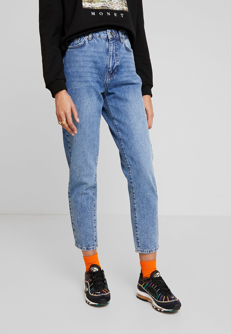 Gina Tricot - DAGNY MOM - Jeans Slim Fit - blue snow