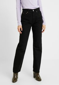 Gina Tricot - THE 90'S HIWAIST - Džíny Relaxed Fit - black - 0