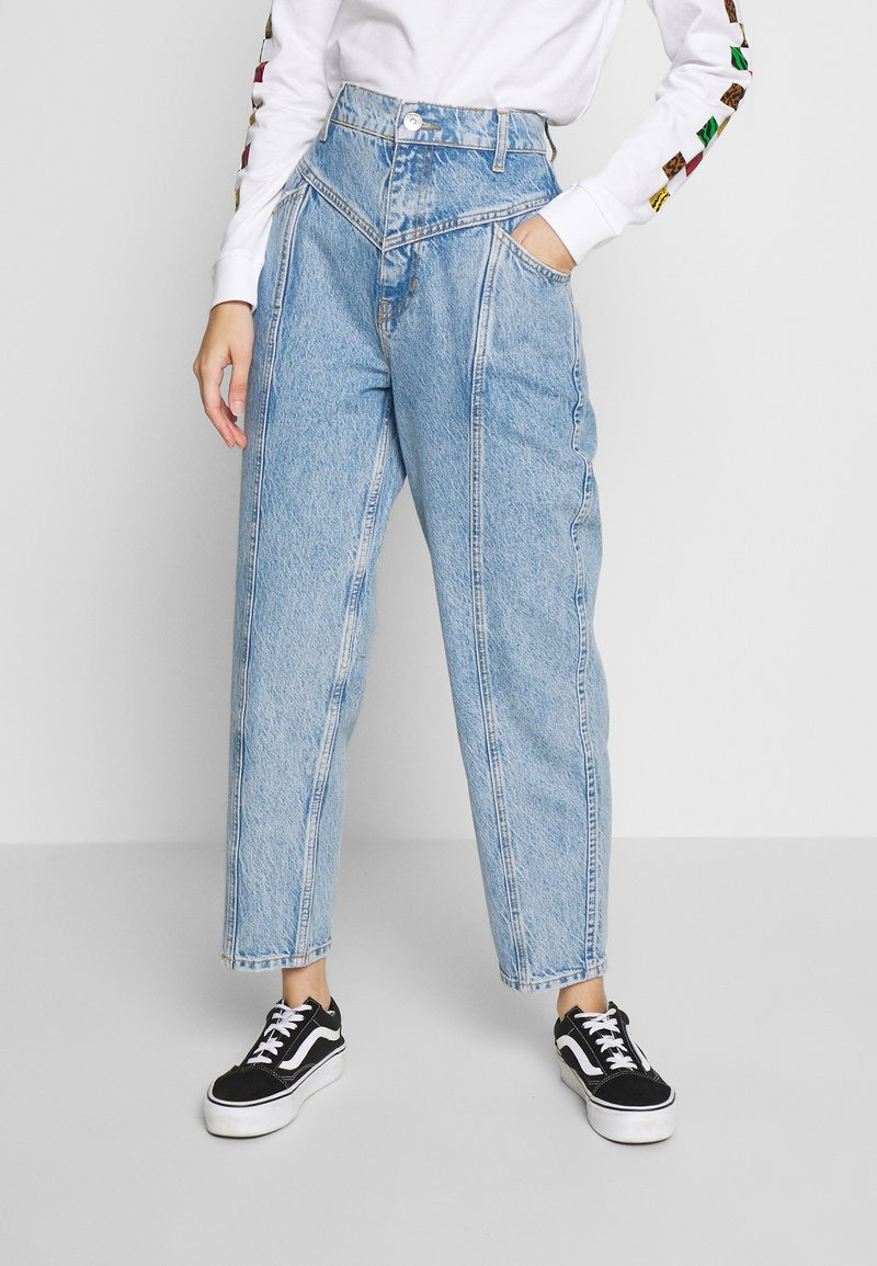 Gina Tricot - MERVE SLOUCHY  - Jeansy Relaxed Fit - blue snow