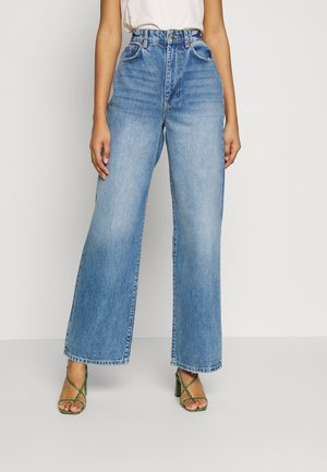 IDUN WIDE - Relaxed fit jeans - mid blue