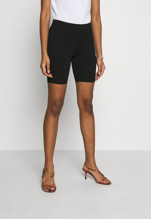 BASIC BIKER 2PACK - Shorts - black