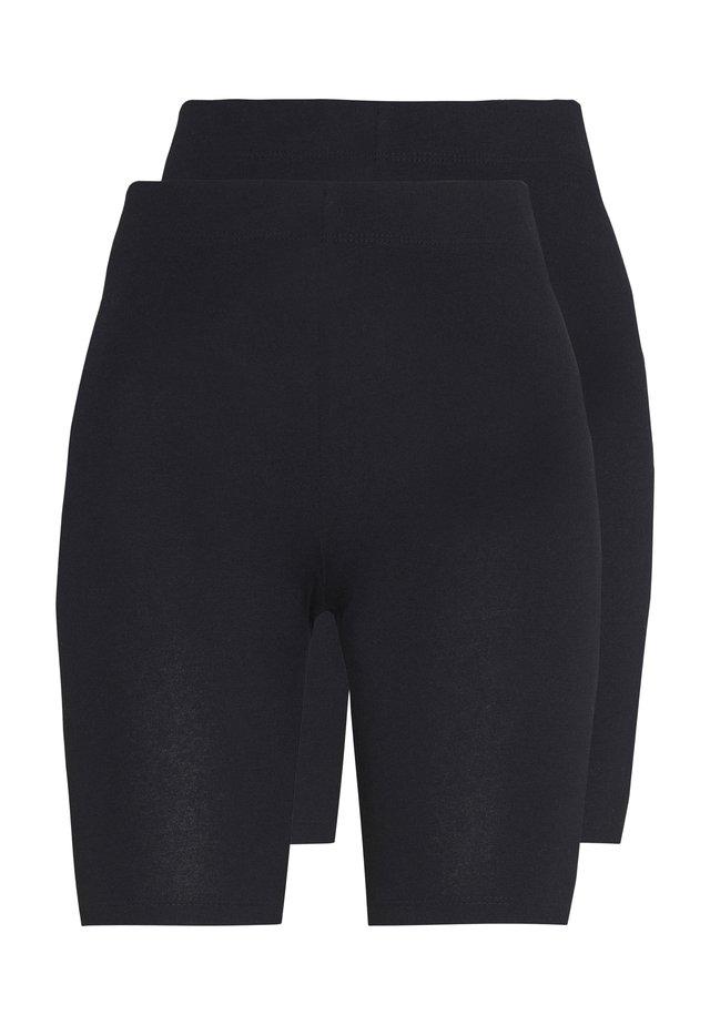 BASIC BIKER 2PACK - Shorts - black