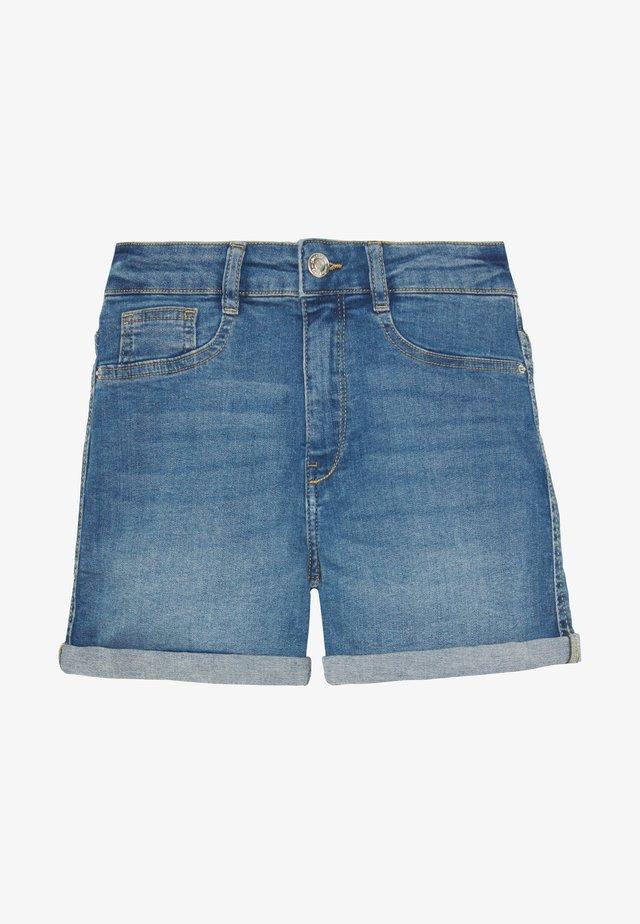 MOLLY - Denim shorts - mid blue