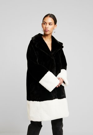 EVERLYN COAT - Kappa / rock - black/white